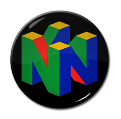 "Nintendo 64 Logo 1.5"" Pin"