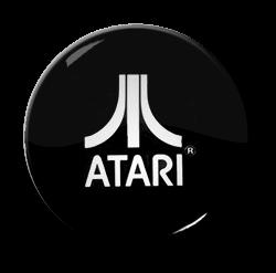 "Atari Black 1.5"" Pin"