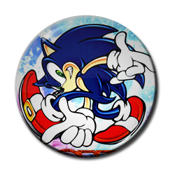 "Sonic the Hedgehog 1.5"" Pin"
