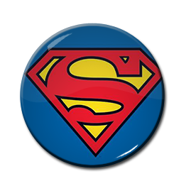 "Superman 1.5"" Pin"