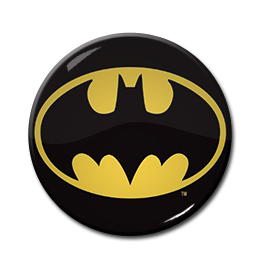 "Batman - Comic Logo 1.5"" Pin"