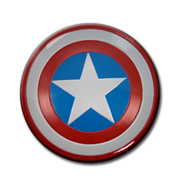 "Captain America - Shield 1.5"" Pin"