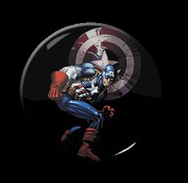 "Captain America - Comic 1.5"" Pin"