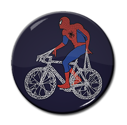 "Spiderman - Bicycle 1.5"" Pin"