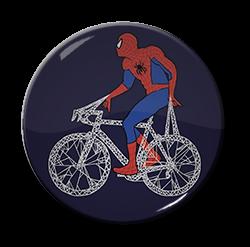 "Spiderman - Bicycle 1.5"" Pin"