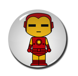 "Chibi Iron Man 1.5"" Pin"