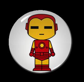 """Chibi Iron Man 1.5"""" Pin"""