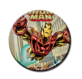 "Iron Man Comic 1.5"" Pin"
