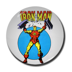 "Iron Man 1.5"" Pin"