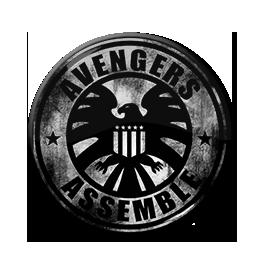 "Avengers Assemble - Distressed Logo 1.5"" Pin"