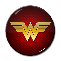"Wonder Woman Logo 1.5"" Pin"