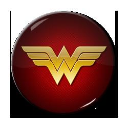 """Wonder Woman Logo 1.5"""" Pin"""