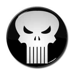 "The Punisher Logo 1.5"" Pin"
