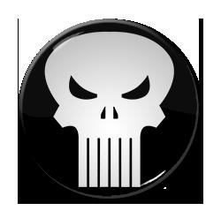 """The Punisher Logo 1.5"""" Pin"""