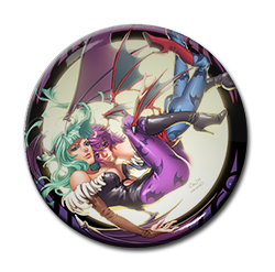 "Morrigan and Lilith 1.5"" Pin"