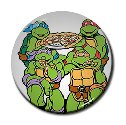 "Teenage Mutant Ninja Turtles - Pizza 1.5"" Pin"