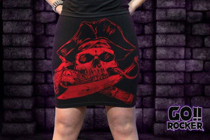 Red Pirate Tube Skirt