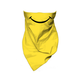 Yellow Bandana with  Smiley Face