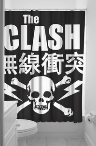 Sourpuss - The Clash Shower Curtain