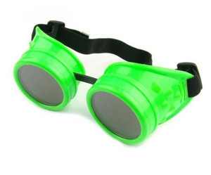 Plain Welding Goggles - Neon Green