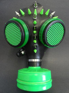 Gas Mask - Black and Neon Color with Spikes