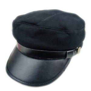 8f19679076fa6 WWII Military Style Kepi Captain Hat with Chain