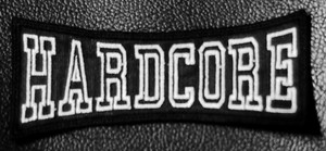 "Hardcore Logo 4x1.5"" Embroidered Patch"