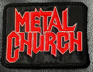 """Metal Church Logo 4x3"""" Embroidered Patch"""