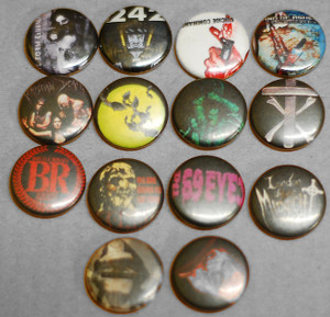 14 Piece Pin Lot - Die Form, Freddy Krueger, Front 242 + More!