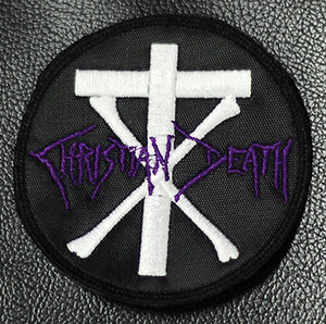 """Christian Death Round Logo 3 1/4x3 1/4"""" Embroidered Patch"""