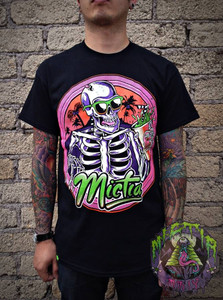Mictia - Skeleton with  Sunglasses T-Shirt