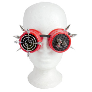 Goggles - Spiked Target in Red