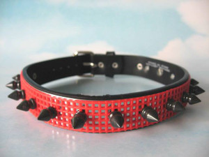 Spiked Mesh Choker Necklace