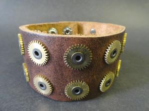 Steampunk Gears Cuff Bracelet