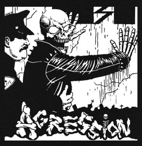 "Aggression - Cop 5.5x5.5"" Printed Patch"