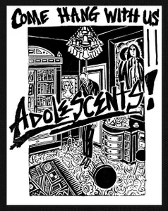 "Adolescents - Come Hang With Us 5X6"" Printed Patch"
