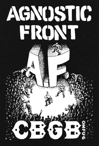 "Agnostic Front C.B.G.B. 4.5X6.5"" Printed Patch"