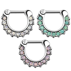 Opalite Paved Septum Clicker
