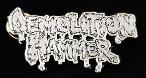 "Demolition Hammer - Logo 2"" Metal Badge Pin"