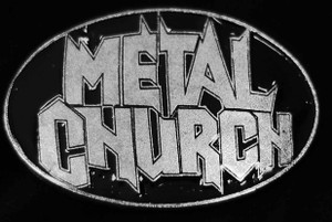 "Metal church - Logo 3.5"" Metal belt buckle"