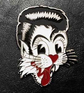 "Stray Cats - Cat 3.5"" Belt Buckle"