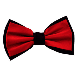 Black and Red Bow Tie