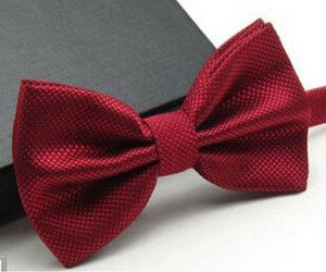 Burgundy Texturized Bow Tie