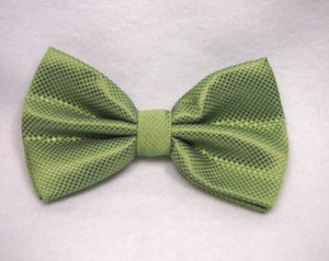 Olive Green Texturized Bow Tie