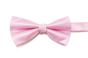 Light Pink Texturized Bow Tie