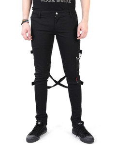 Men's Black Chaos Bondage Pants