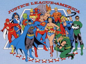 """Justice League of America 12x18"""" Poster"""
