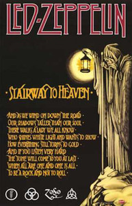 """Led Zeppelin - Stairway to Heaven 24x36"""" Poster"""