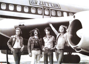 """Led Zeppelin Airplane 24x36"""" Poster"""