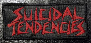 "Suicidal Tendencies Red Logo 4x2"" Embroidered Patch"